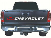 Fits Chevrolet Tailgate 52 X 4 White / Red Vinyl Sticker Decal Rear Silverado