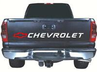 Fits Chevrolet Tailgate 52 X 4 White / Red Vinyl Sticker Decal Rear Silverado