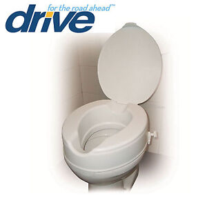 Raised Toilet Seat With Lid Elevating Toileting Disability