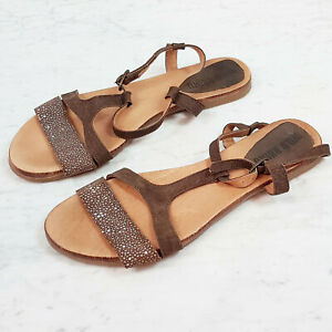 Details about WILD RHINO   Womens Leather Flat Sandals Shoes [ EUR 41 ]