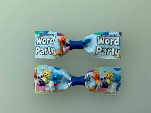 Mini Word Party Hair Bows with Alligator Clips