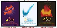 The legend of Zelda Classic ( Triple Poster Set ) 30 in x 20 in - ( SET 2 OF 3 )