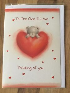 ❤️Valentines Day Card ❤️To The One I Love, Thinking Of You Makes-❤️New & Sealed