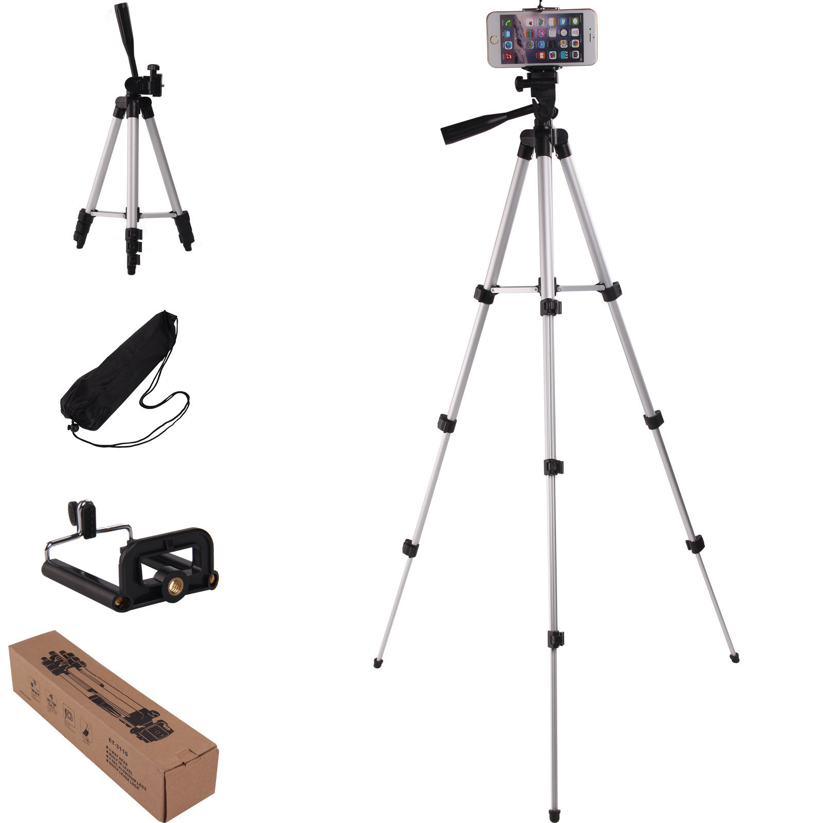 the latest ecf59 30522 Aulola Professional Camera Tripod Stand Holder for Apple iPhone X 8 Plus 7  6s