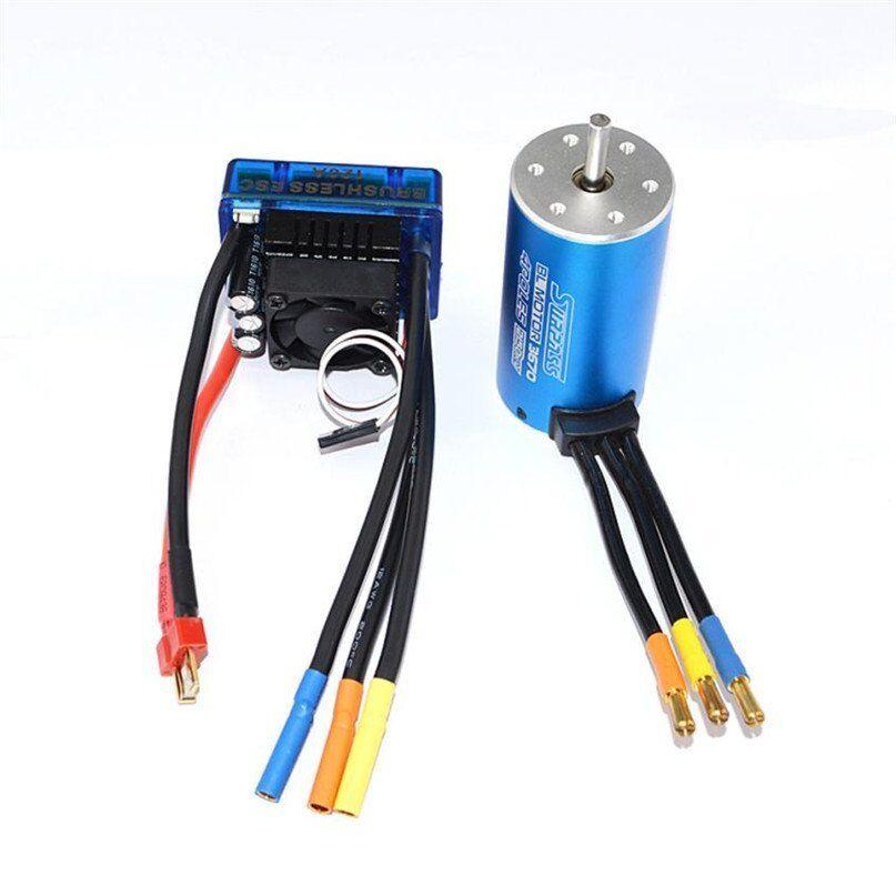 3670 Sensorless 2650KV Motor sin Escobillas + 80A Esc para 1 8 RC coche Off-Road