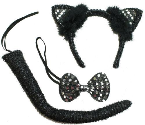 Halloween Costume Accessory 3 Piece Black Cat Kit