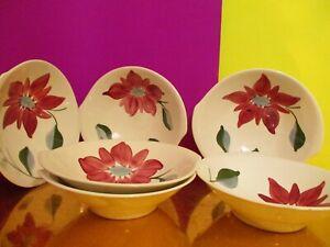 Blue-Ridge-Pottery-Petal-Point-Tab-Handled-Soup-Bowls-6