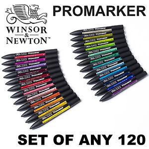 Winsor /& Newton PROMARKER Twin Tip Arte Gráfico marcador plumaConjunto De Cualquier 72