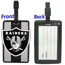 NFL Oakland Raiders Soft Luggage Bag Tags /Gym bag / Golf bag