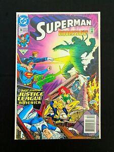 SUPERMAN-74-DC-COMICS-1992-VF-NEWSSTAND-JUSTICE-LEAGUE-DOOMSDAY