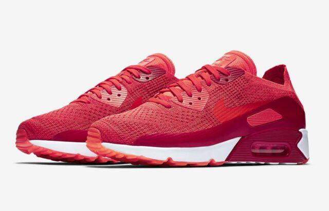 Nike Air Max 90 Ultra 2.0 Flyknit # 875943 600 Bright Crimson Men SZ 7.5 12