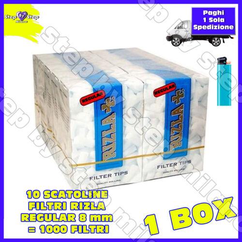 1000 Filtri RIZLA Regular 8 mm 8mm 10 scatole da 100