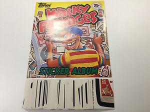 1982-USA-Wacky-Packages-Sticker-Album-amp-Complete-Sticker-Set-Garbage-Pail-Kids