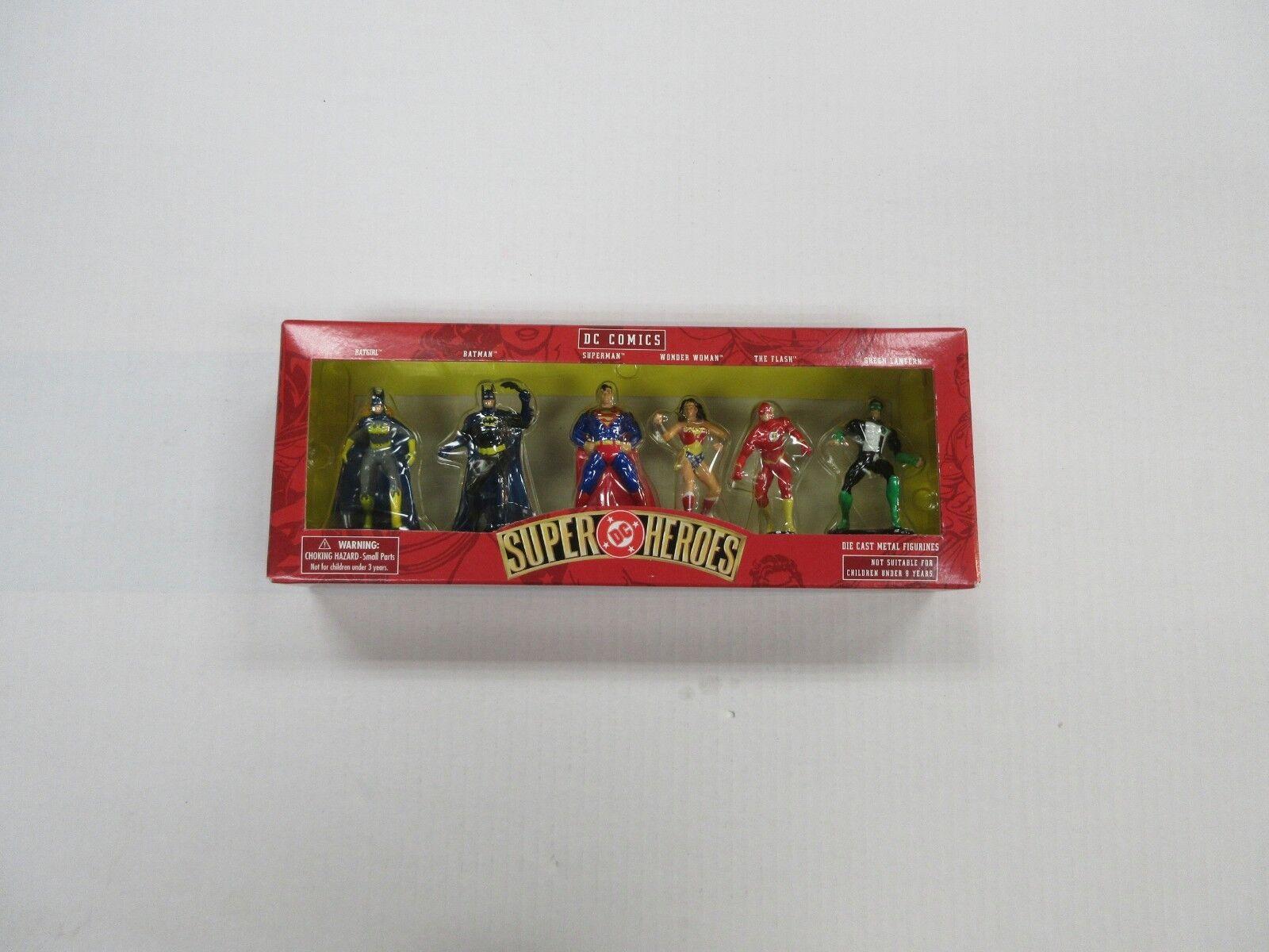 DC SUPER HEROES HEROES HEROES 6 DIE-CAST METAL FIGURINE FIGURE SET BATMAN FLASH ETC SEALED c6e55b