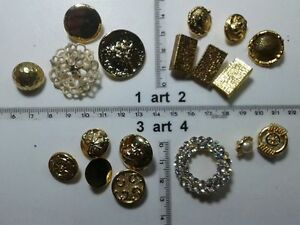 1-lotto-bottoni-gioiello-strass-smalti-perle-vetro-buttons-boutons-vintage-g11