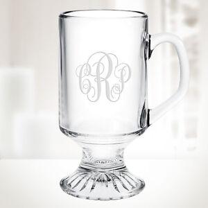 Personalized Irish Coffee Footed Glass Mug 10oz 738759866324 Ebay