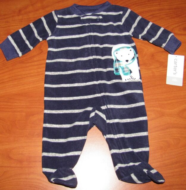 0850f2f5f Carter s Baby Boy s Sleeper 3 Month 1pc Polar Bear Footed Striped ...