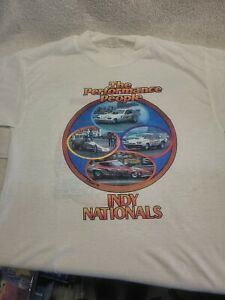 Vintage NOS 1976 NHRA Indy Nationals Indianapolis  Drag Strip T-shirt