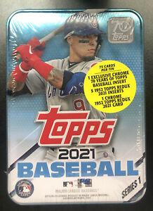 2021 Topps MLB Baseball Series 1 Card TIN Javier Baez New! Sealed!