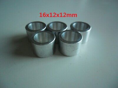 Round Spacer 0.252 ID 1//4 Screw Size Made in US Aluminum 1-3//16 Length 1//2 OD Pack of 5 Plain Finish