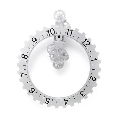 Kikkerland Big Wheel Hour Wall Clock Decor Gear Steampunk Unique Industrial