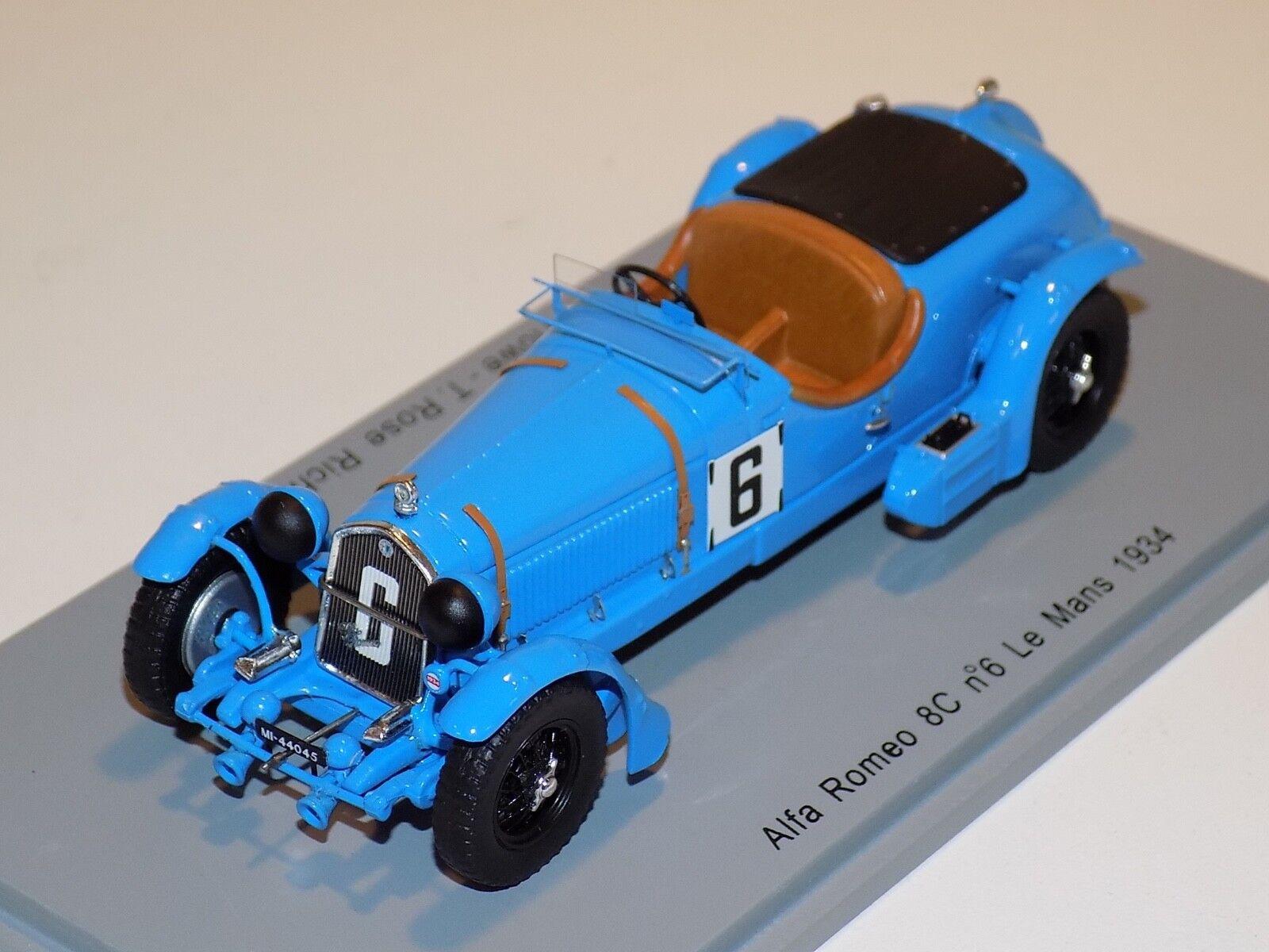 1 43 Spark Alfa Romeo 8C coche horas de LeMans S3887