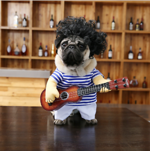 Guitarist-Player-Halloween-Pet-Dog-Cat-Puppy-Funny-Hot-Clothes-Costumes-Suit-XL