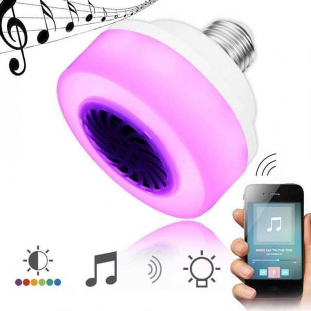 E27 LED Wireless Bluetooth Bulb Speaker RGB Phone Music Control Play Lamp