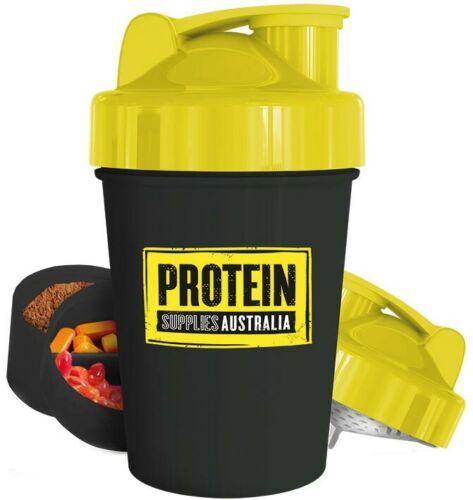 600ml Multi compartment Protein Supplies Australia Shaker