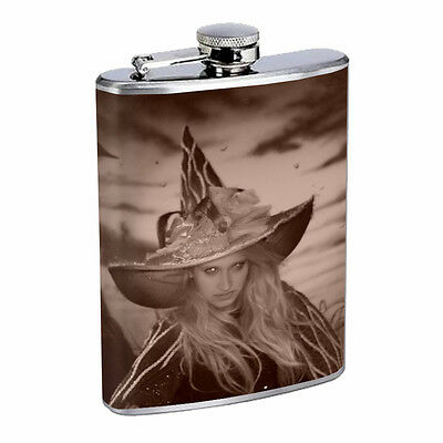 Vintage Gypsy Woman D6 Flask 8oz Stainless Steel Hip Drinking Whiskey