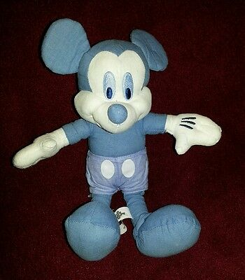 """9"""" RARE Blue Mickey Mouse Plush Doll Toy Celebrate 75 Years"""