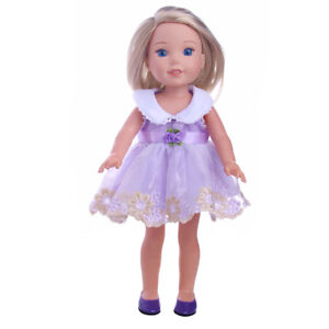 """Doll Clothes 14.5/"""" Dress Floral Shoes Headband Fit 14.5/"""" AG Wellie Wishers Dolls"""