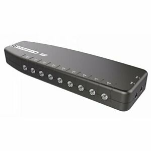 8-WAY-Digital-TV-Aerial-Booster-Box-Splitter-Amplifier-Freeview-HD-4G-Red-Ready