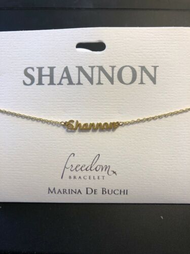 Freedom Bracelet by Marina De Buchi goldtone personalized Sabrina-Trinity