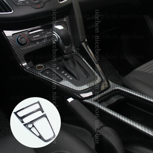For Ford Focus RS ST Carbon fiber color A//C Inner Gear shift Panel trim 2015-18