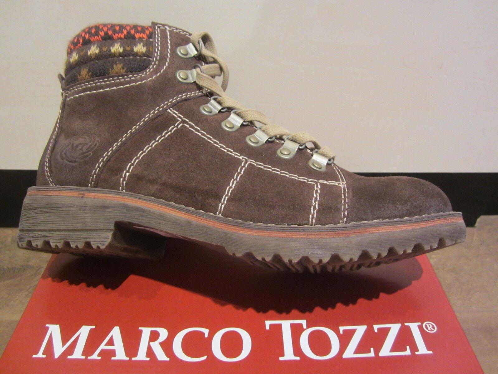 Marco Tozzi Stiefel Stiefelette Stiefel Winterstiefel Leder braun NEU NEU NEU 127267