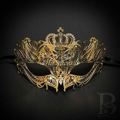 Red Luxury Light Metal Filigree Mardi Gras Venetian Masquerade Mask for Women