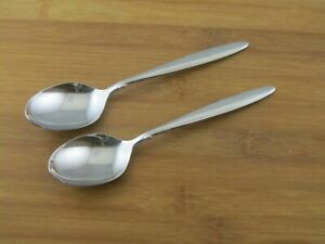 2-Two-Oneida-Delmar-Taper-Oval-Soup-Place-Spoons-6-7-8-034-Stainless-Flatware