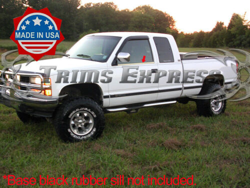 1988-1998 Chevy C//K Regular//Extended Cab 2Pc Window Sill Trim Stainless Steel