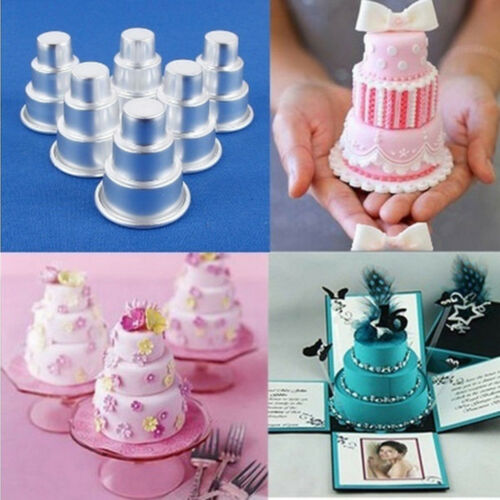 Alloy DIY Mini 3-Tier Cupcake Pudding Chocolate Cake Mold Baking Pan Mould Party