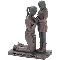 Mother And Daughter Praying Figurine, New, Free Shipping