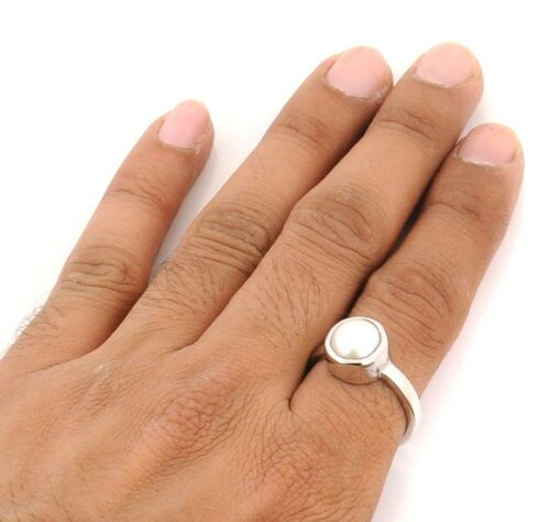 NATURAL LAB CERTIFIED SOUTH SEA PEARL RING MOTI FOR BEST QUALITY ASTROLOGICAL
