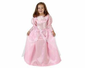 Vestito Bambina Principessa Costume su Rosa 6 Anni