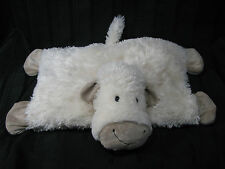 "8"" Jellycat LAMB SHEEP TRUFFLES BEAN BAG PILLOW cream tan plush stuffed animal"