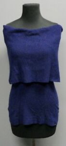 AUTUMN-CASHMERE-Women-039-s-Casual-Cashmere-Cowl-Neck-Purple-Sweater-Size-M-FF7231