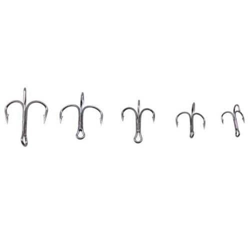 Size # 2//4//6//8//10 Treble Fishing Hook Set High Steel for Carp Fishing Hooks DP