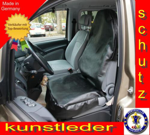 Kunstleder Schonbezug Werkstattschoner Auto Sitzbezug Kunstlederschoner Schwarz