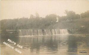 c-1910-Raly-039-s-Dam-Jackson-Minnesota-RPPC-Real-photo-postcard-8860