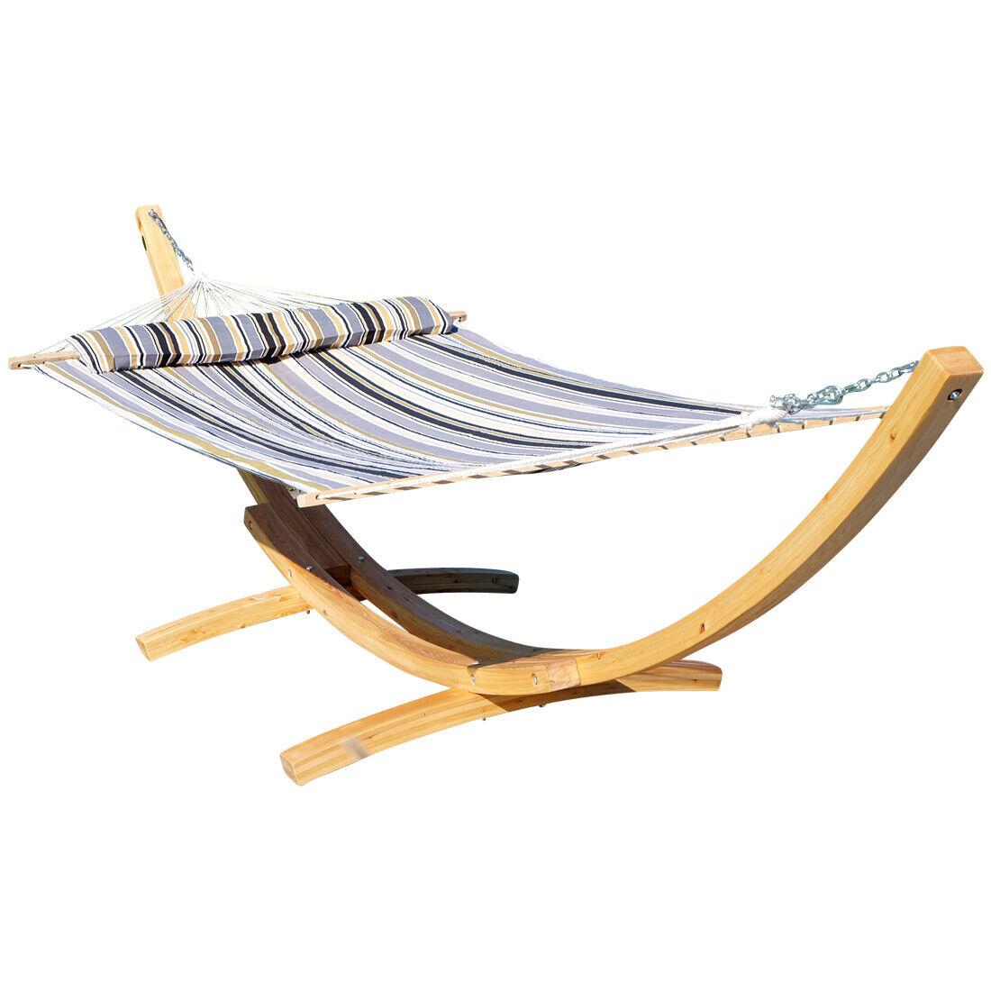 410cm XXL Hängemattengestell NATUR-FILLED EDITION GRAU aus Holz Holz Holz Lärche mit Stab     | Gute Qualität  8c6caf