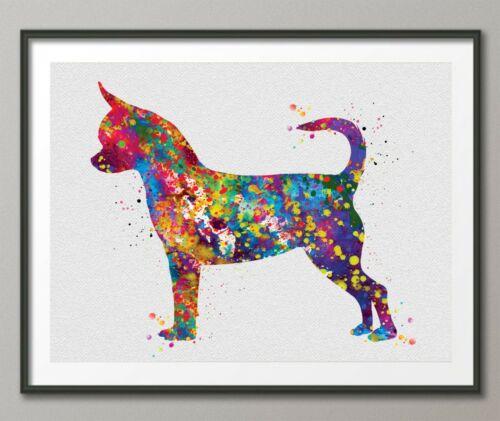 Chihuahua Dog Art Watercolor Print Chihuahua Poster Gift Pet Doglover Puppy-769